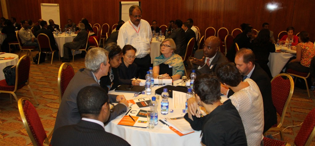 Roundtable discussion participants in Addis Ababa, Ethiopia